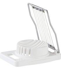 cortador de ovos fackelmann em plástico / aço inox – branco / prata