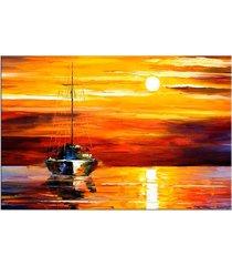tela decorativa barco a vela médio love decor