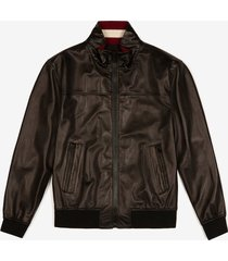 nappa leather jacket black 60
