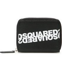 dsquared2 mirrored logo zip around wallet