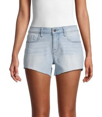 vigoss women's marley mid-rise denim shorts - light wash - size 24 (0)