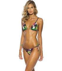 triquini ripple dupla face kalini beachwear bromélia 3 em 1