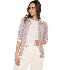 chaqueta multicolor bolsillos giive - ema517-palo rosa