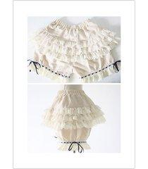 lolita women sweet bloomers flax lace underwear pumpkin shorts safety pants