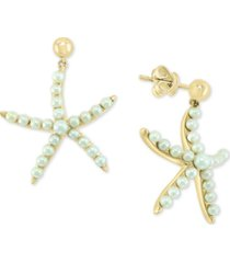 effy cultured freshwater pearl (2 & 3mm) starfish drop earrings in 14k gold