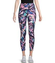 nanette lepore women's abstract-print leggings - size l