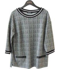 verpass blouse 3216 light grey - size 44 / xxl