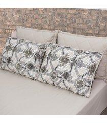 conjunto de lençol queen pertutty 100 porcento algodão conforto