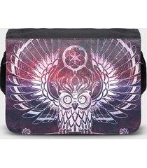 torba na ramię duża kosmiczna sowa 2