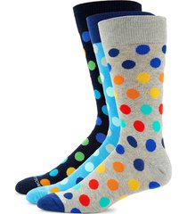 unsimply stitched men's 3-pack multicolored polka dot crew socks