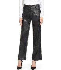 women's ag the tomas high waist wide leg coated jeans