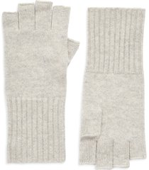 women's halogen cashmere fingerless gloves, size one size - grey