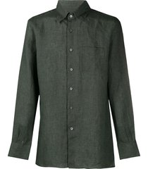 canali straight-fit shirt - green