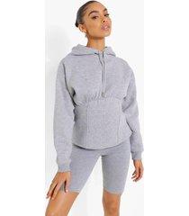 korset hoodie, grey marl