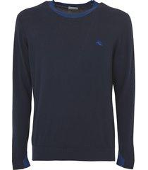 etro logo embroidered sweatshirt