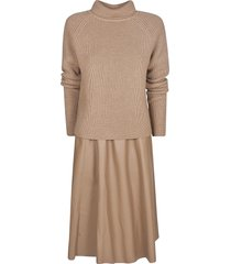 drome woven plain dress