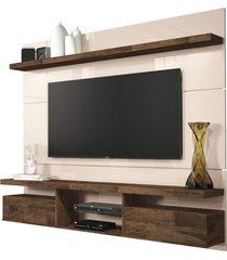 painel home suspenso 1.8 para tv atã© 55 sala de estar lennon off white/deck - gran belo - off-white - dafiti