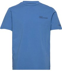 halo cotton tee t-shirts short-sleeved blå halo
