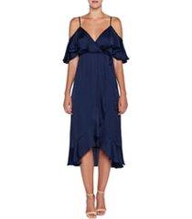 women's bardot bea cold shoulder ruffle dress