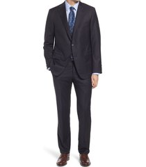 men's hickey freeman infinity classic fit solid wool suit