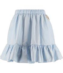 technical fabric mini-skirt