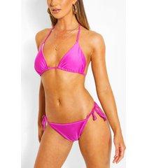 mix & match tie side bikini brief, purple