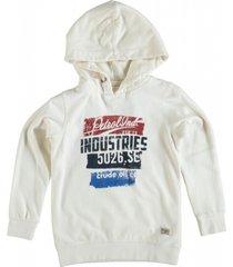 petrol zachte ecru sweater hoodie