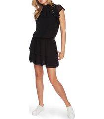 1.state flutter sleeve dress, size medium in rich black at nordstrom