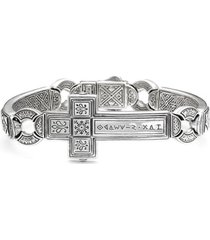 men's konstantino 'silver classics' metal cross bracelet