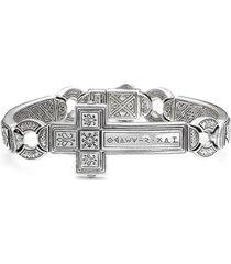 konstantino 'silver classics' metal cross bracelet, size medium at nordstrom