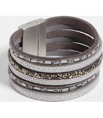 maurices womens gray multi row magnetic bracelet