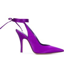 the attico ankle tie fastening pumps - purple