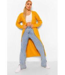 gewatteerde getailleerde jas met faux fur zoom, ochre