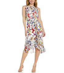 adrianna papell printed midi dress