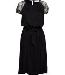 dress ss jurk knielengte zwart rosemunde