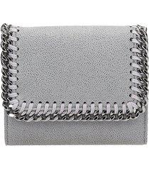stella mccartney falabella wallet in grey faux leather