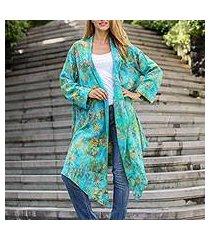 rayon jacket, 'daisy paradise' (indonesia)