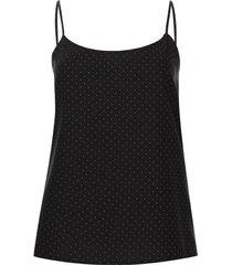 blusa tiras estampada puntos color negro, talla l