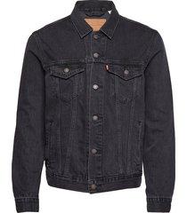 the trucker jacket liquorice t jeansjack denimjack zwart levi´s men