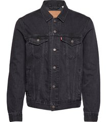 the trucker jacket liquorice t jeansjack denimjack zwart levi´s men