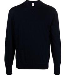 eleventy crew-neck wool sweatshirt - blue