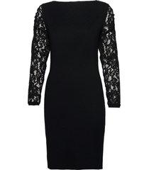 dresses flat knitted knälång klänning svart esprit collection