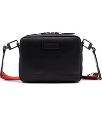 original rubberized leather two strap mini crossbody bag