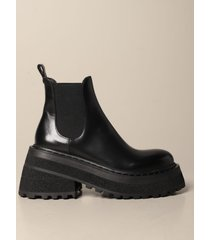 marsell flat booties carretta slip on leather ankle boot