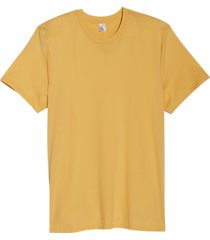 alternative apparel organic cotton crew neck t-shirt ochre
