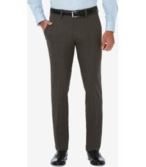 haggar men's cool 18 pro slim-fit flat front stretch dress pants