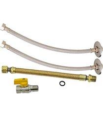 """""""kit de instalação para aquecedor a gás dn15 1/2""""""""x40cm"""""""
