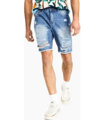 inc men's light wash ripped denim shorts, created for macy's