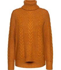 lid knit turtleneck polotröja brun kari traa
