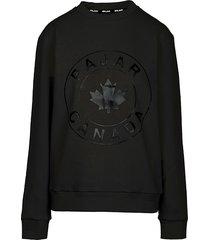 pajar men's logo sweatshirt - black - size l